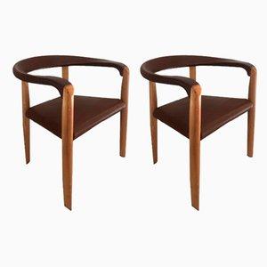 Vintage Miss Stühle von Tobia & Afra Scarpa für Molteni, 2er Set