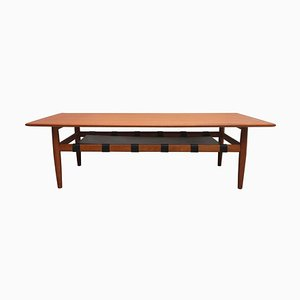 Teak Coffee Table with Storage, 1960s