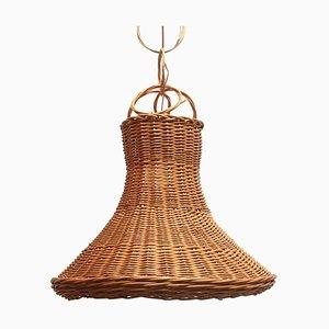 Large Rattan Hanging Lamp, 1970s