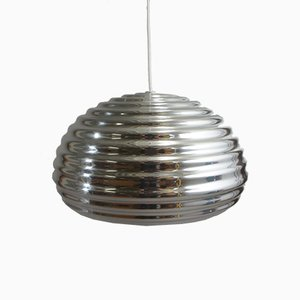 Splügen Bräu Chromed Metal Ceiling Lamp by Achilles & Pier Giacomo Castiglione for Flos, 1960s