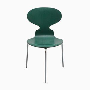 Dreibeiniger Ant 3101 Stuhl in Grün von Arne Jacobsen für Fritz Hansen, 1969