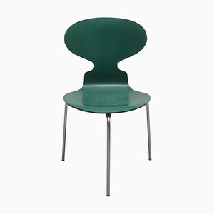 Sedia Ant 3101 tripode verde di Arne Jacobsen per Fritz Hansen, 1969