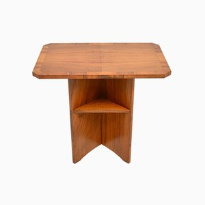 Art Deco Figured Walnut Occasional Side Table