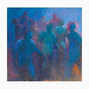 Renato Criscuolo, Crowd, Oil on Canvas