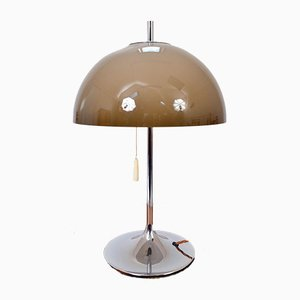 Danish Space Age Chrome Desk or Table Lamp by Frank J Bentler for WILA
