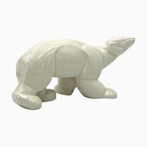 Charles Lemanceau, Art Deco Cubist Polar Bear, St. Clement, France, 1930s