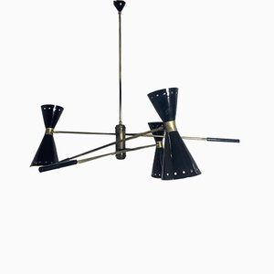 Vintage Ceiling Lamp with Swivel Arms