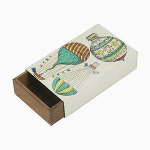 Kleines Kästchen aus Holz & Metall von Piero Fornasetti, 1950er