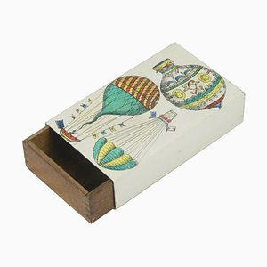 Small Wooden & Metal Box by Piero Fornasetti, 1950s