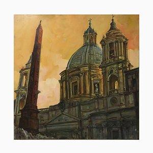 Rome - Saint Peters Church - Oil on Canvas