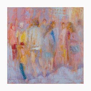 Renato Criscuolo, At the Feast, óleo sobre lienzo
