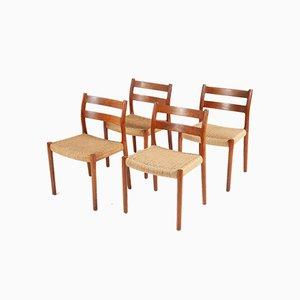 Teak No. 84 Esszimmerstühle von Niels Otto Møller für JL Møllers, 1960er, 4er Set