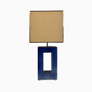 Lámpara esmaltada en azul, años 70