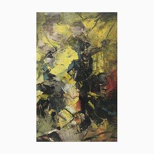 Caballo de la lucha - Pintura abstracta - Oleo sobre lienzo - Alfonso Pragliola