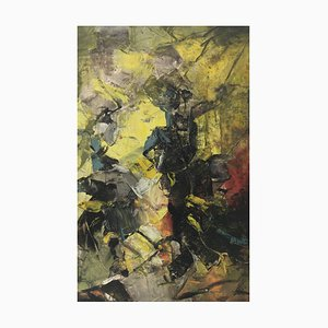 Fight Horse - Abstract Painting - Oil on Canvas - Alfonso Pragliola