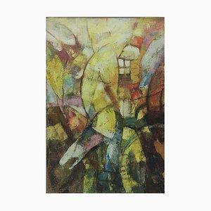 Archer - Pintura abstracta, óleo sobre lienzo - Alfonso Pragliola - Italy