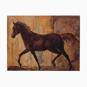 Horse - Gemälde - Öl auf Leinwand - Italien - Alfonso Pragliola