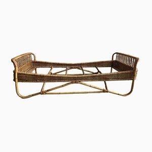 Mid-Century Italian Modern Rattan & Bamboo Sofa