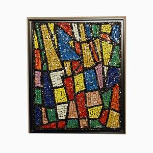 Pannello con mosaico in vetro, Italia, anni '60