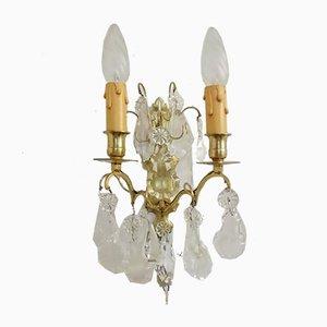 Glas Wandlampen, 1950er, 2er Set