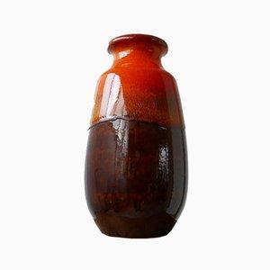 Mid-Century German Orange Ceramic Vase
