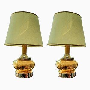 Vintage Keramik Lampen, 2er Set