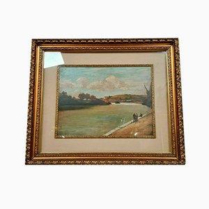 Pintura de escuela italiana, Oil on Panel, década de 1900