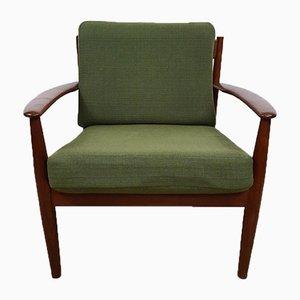 Modell 128 Teak Stuhl von Grete Jalk für France and Son, 1960er