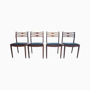 Juego de sillas danés, años 60