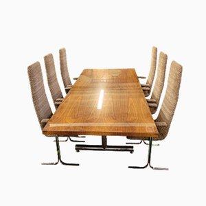 Tisch & Stühle von Tim Bates für Pieff, 7er Set
