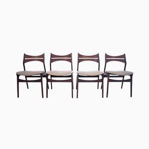 Dänische Stühle von Eric Buck, 1960er, 4er Set