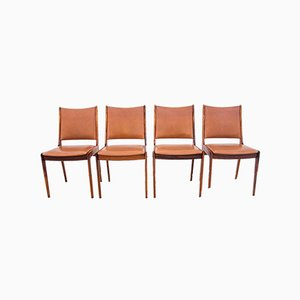 Danish Rosewood Chairs, 1960s, Set of 4