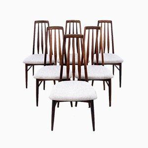 Chaises de Salon de Niels Koefoed Denmark, 1960s, Set de 6