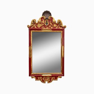 Red Wall Mirror, 1940s