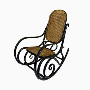 Vintage Black Bentwood Rocking Chair by Michael Thonet for Thonet