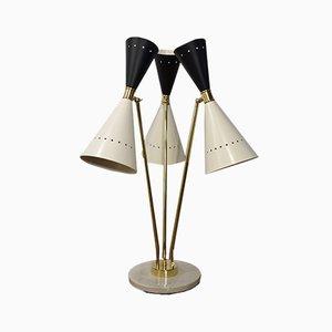 Lampe Diabolo Moderne Noire et Blanche, 1950s
