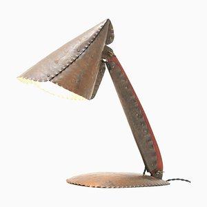 Lámpara de mesa Escuela de Amsterdam Art Déco de martillo de Johan Verhey, años 30