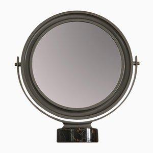 Spiegel mit schwarzem Marmorfuß von Sergio Mazza für Artemide