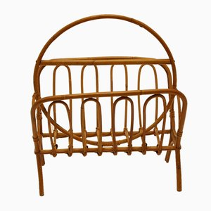 Vintage Bamboo Light Model Magazine Rack from Rohé Noordwolde