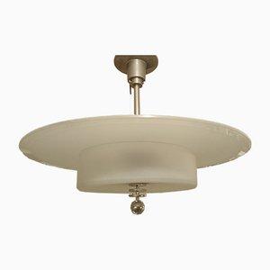 French Art Deco Bauhaus Ceiling Lamp by Genet et Michon