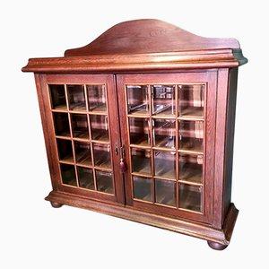Antique Solid Oak Display Cabinet