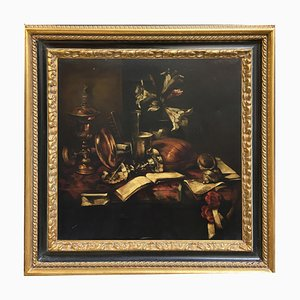 Bodegón con instrumentos musicales - Oleo sobre lienzo - Francesca Strino - Italy