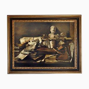 Naturaleza muerta con libros - Oleo sobre lienzo - Francesca Strino