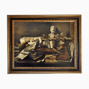 Still Life with Books - Oil on Canvas - Francesca Strino