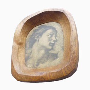 Anthroposophical Elmwood Picture Frame, 1920s