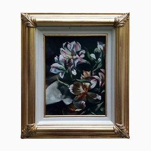 Flores - Óleo sobre lienzo - Francesca Strino - Italy