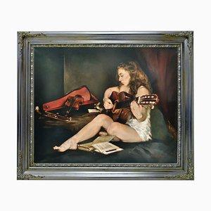 Gitarre - Francesca Strino - Öl auf Leinwand - Italien