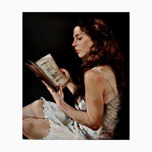 The Secret Book - Oleo sobre lienzo - Francesca Strino - Italy
