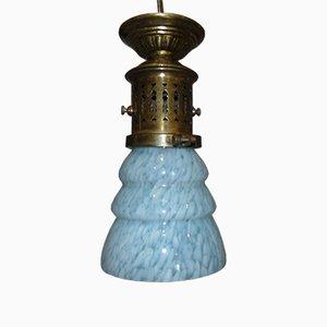 Pre-War Art Deco Brass Ceiling Lamp