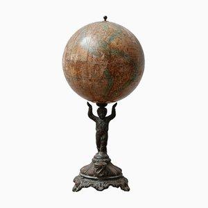 Antiker deutscher Papier-Mache Globus von Ludwig Julius Heymann